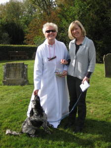 Vicar with dog